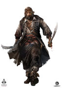 AC4 One-Eyed Pirate - Concept Art