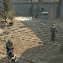 Ezio staat op het punt een bom te gooien