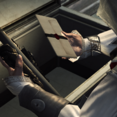 Ezio pakt de rest uit de kist.