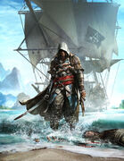 Assassin's Creed 4 Black Flag cover art alternate by TwoDots