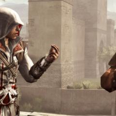 Ezio vraagt La Volpe's hulp.