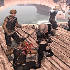 Ezio vecht tegen de wachters