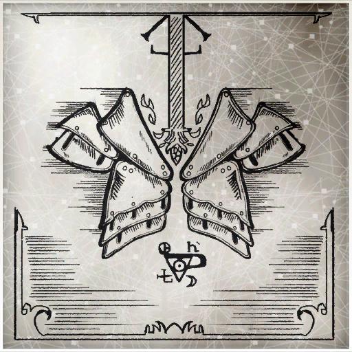 阿泰尔铠甲的草图。