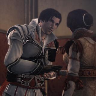 Ezio groet Cristina