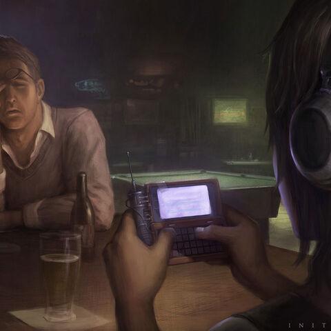 肖恩和瑞贝卡在一间德克萨斯酒吧