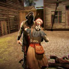 Aveline vecht met de slavenhandelaren