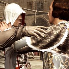 Lorenzo wenst Ezio veel succes.