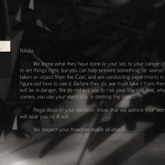 刺客给特斯拉的信