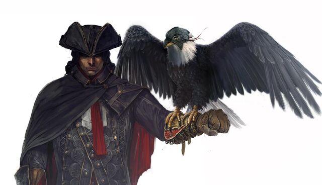 File:AC3 Haytham Eagle - Concept Art.jpg