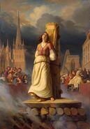 Jeanne d'Arc burned