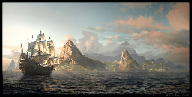 File:ACIV - Black Flag - Arrival in St Lucia by Raphael-Lacoste.jpg