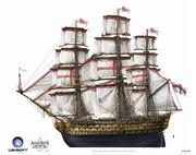 Assassin's Creed IV Black Flag -Ship- BritishMilitaryNavalShips ManOfWar by max qin