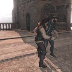 Ezio vecht tegen Pazzi.