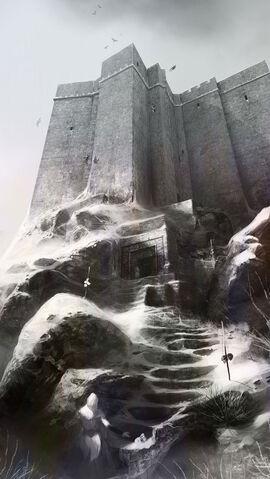 File:AC1 Masyaf Castle Entrance - Concept Art.jpg