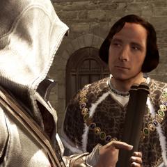 Lorenzo geeft Ezio een Codexpagina.