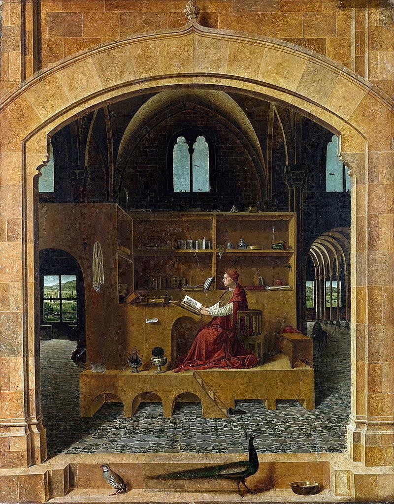 File:St-Jerome in his study - By Antonello da Messina.png