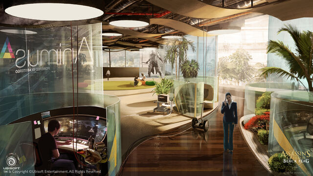 File:Assassin's Creed IV Black Flag Abstergo Entertainment interior Concept Art by EddieBennun.jpg