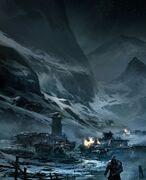 Ezio leaving Masyaf concept