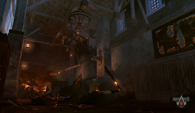 File:Assassins Creed 3 Fort Wolcott (Dining Destroyed) by neilvk.jpg