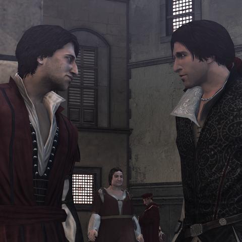 Federico adviseert Ezio.