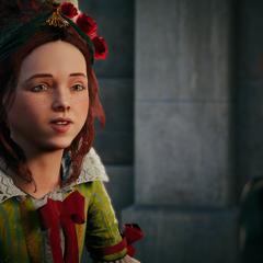 Élise stelt zichzelf voor aan Arno