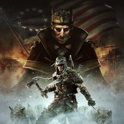 <i>暴君华盛顿</i>的宣传画,画面中是拉通哈盖图和乔治·华盛顿。
