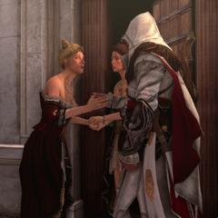 Ezio wordt ingelicht over het losgeld