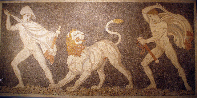 File:Craterus and Alexander the Great on a hunt.jpg