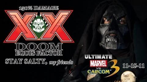 Ultimate Marvel vs Capcom 3 Commercial 'DOOM EQUIS X-FACTOR' *GIVEAWAY!*