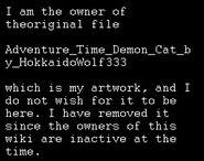 Adventure time demon cat by hokkaidowolf333-d38nnqs