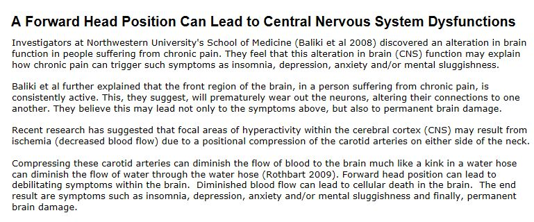 FHP Linked to CNS Dysfunctions