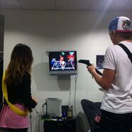 Raura in Ross's dressing room