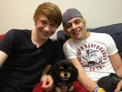 Ross, Calum, and Pixie