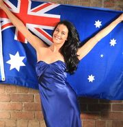 Megan gale-australian flag