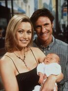 Nicky Buckley and Murray Bingham with there baby son Cooper,