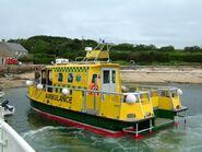 Scilly Isles Ambulance Service alongside Tresco quay