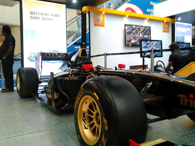 File:Lotus-Renault F1 car in display at the Express Avenue Mall.jpg