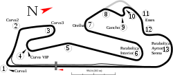 Estoril track map