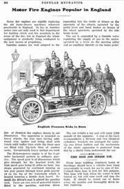 Motor fire engines in Popular Mechanics 1905 v7 n2
