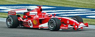 Schumacher (Ferrari)in practice at USGP 2005