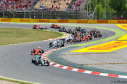 Start 2015 Spanish Grand Prix