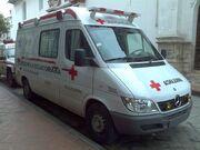 Ambulancia Cruz Roja Ecuatoriana