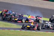 2012 Japanese GP opening lap