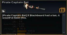 Pirate Captain Bat description