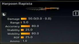 Harpoon Rapista stats