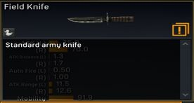 Field Knife description