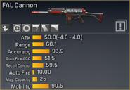 FAL Cannon statistics
