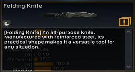 Folding Knife description