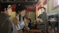 Korra and Tenzin radio