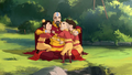 Tenzin and his children.png